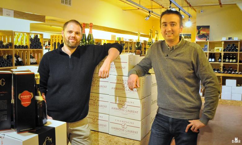 Damien et Xavier - Grande Boutique du Vin de Reims