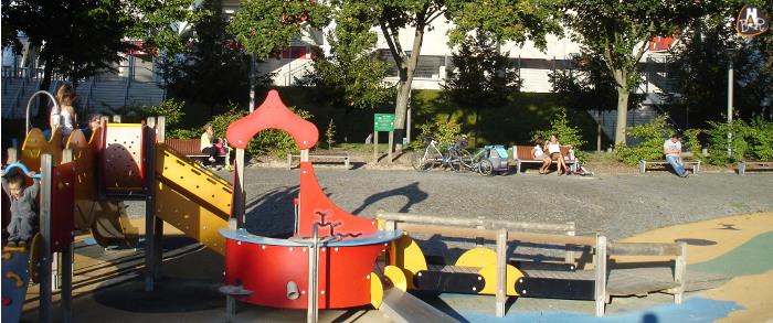 L'aire de jeux pour les petits