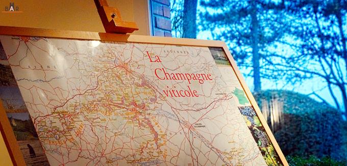 Carte de la Champagne Viticole