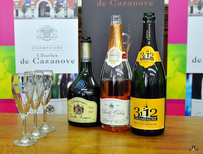 Dégustation de champagnes Cazanove