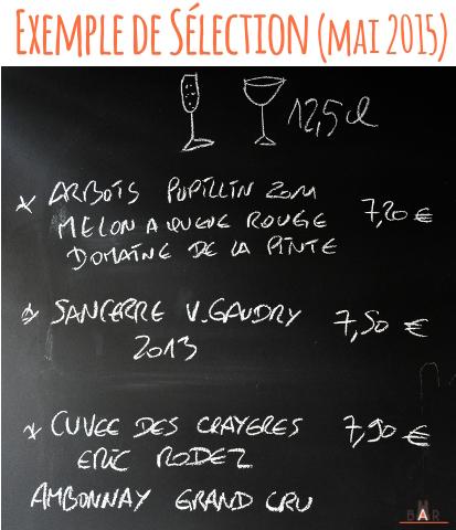 Selection de vins au verre - 3 p'tits bouchons