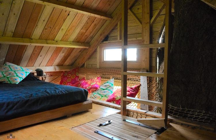 chambre douillette dans la cabane