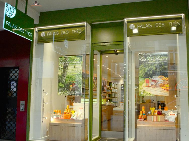 Façade de la boutique Palais des Thés de Reims