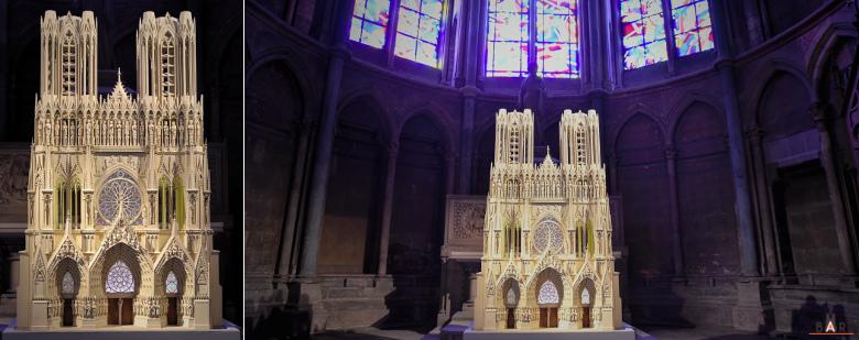maquette de la façade occidentale de la cathédrale de Reims