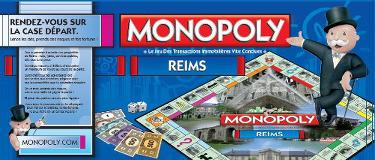 Arrière de la boîte du jeu Monopoly de Reims de 2012
