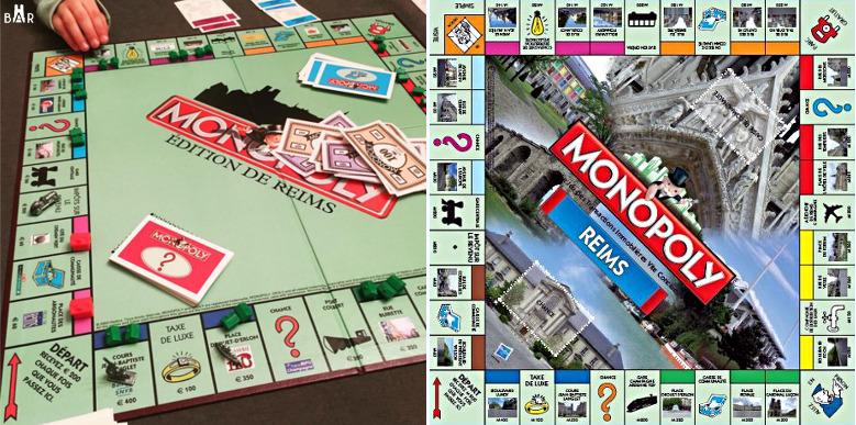 plateaux de jeu - Monopoly de Reims
